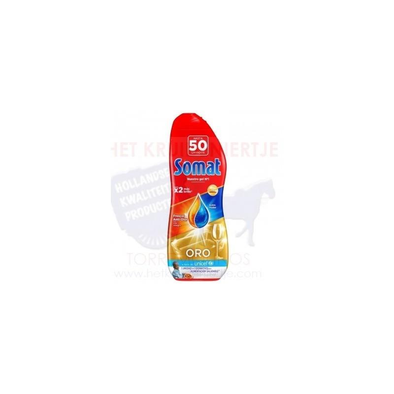 Gel Para Lavavajillas Oro Frescor Anti Olor Con Vinagre Somat 50 Lavados