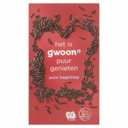 G'WOON CHOCOLADEHAGEL PUUR 400 GR.