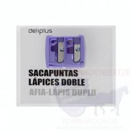 DELIPLUS SACAPUNTAS DOBLE LÁPIZ FINO Y GRUESO
